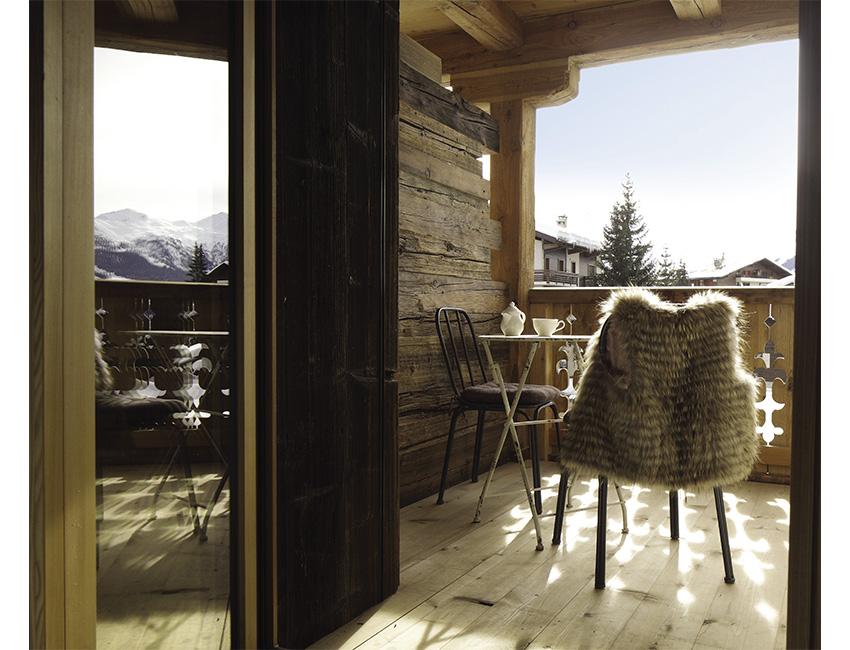 terrasse hôtel Cordée des Alpes