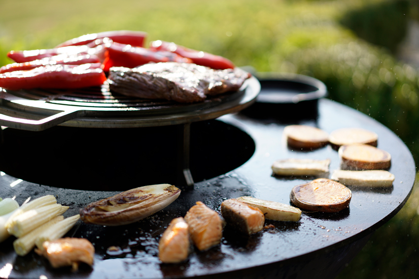 le barbecue Quoco Piatto facilite la cuisson