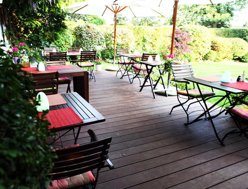 terrasse jardin du Rêve Richelle à Waterloo