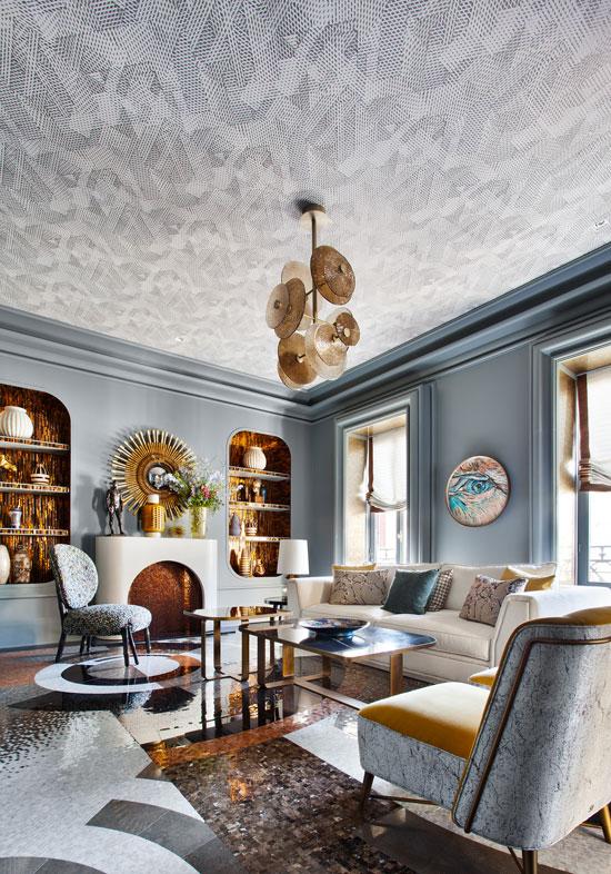 papier peint plafond