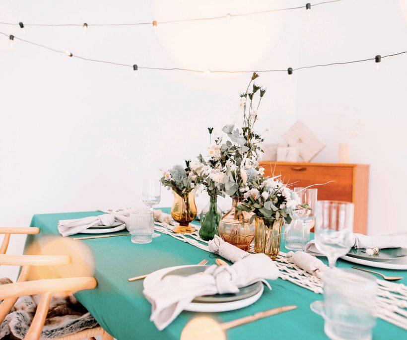7 idées pour une table de fêtes 'so green'