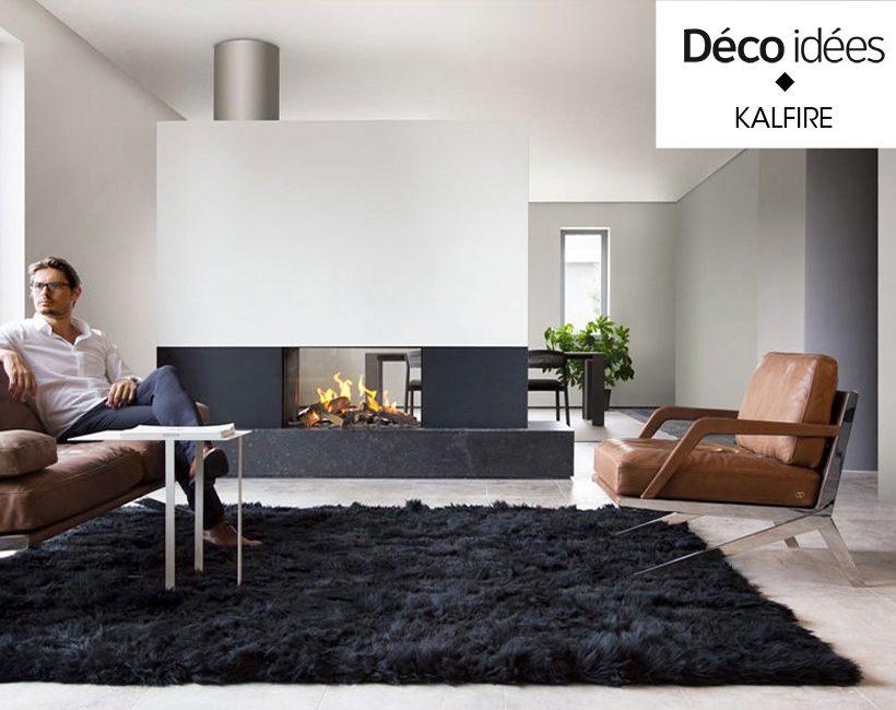 Mode d'emploi: un foyer design pour séparer l'espace