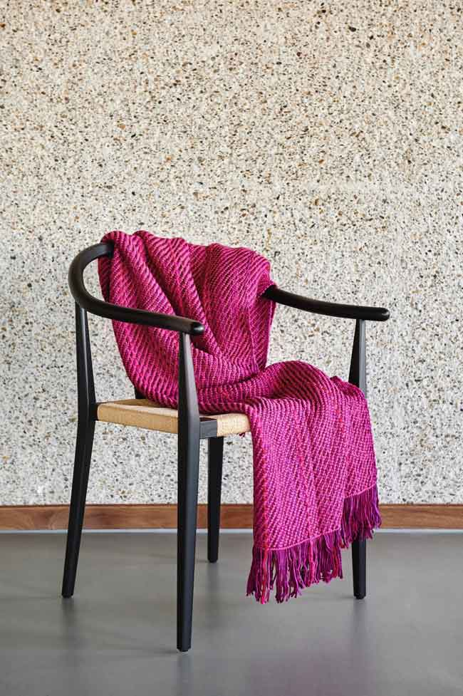 WEHVE couvertures magenta laine