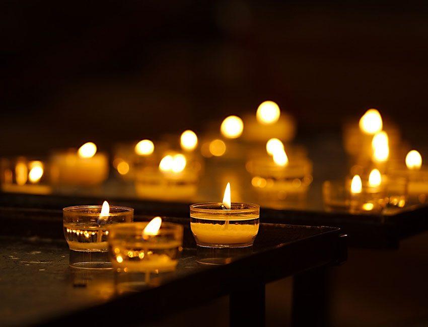 saint-valentin bougies