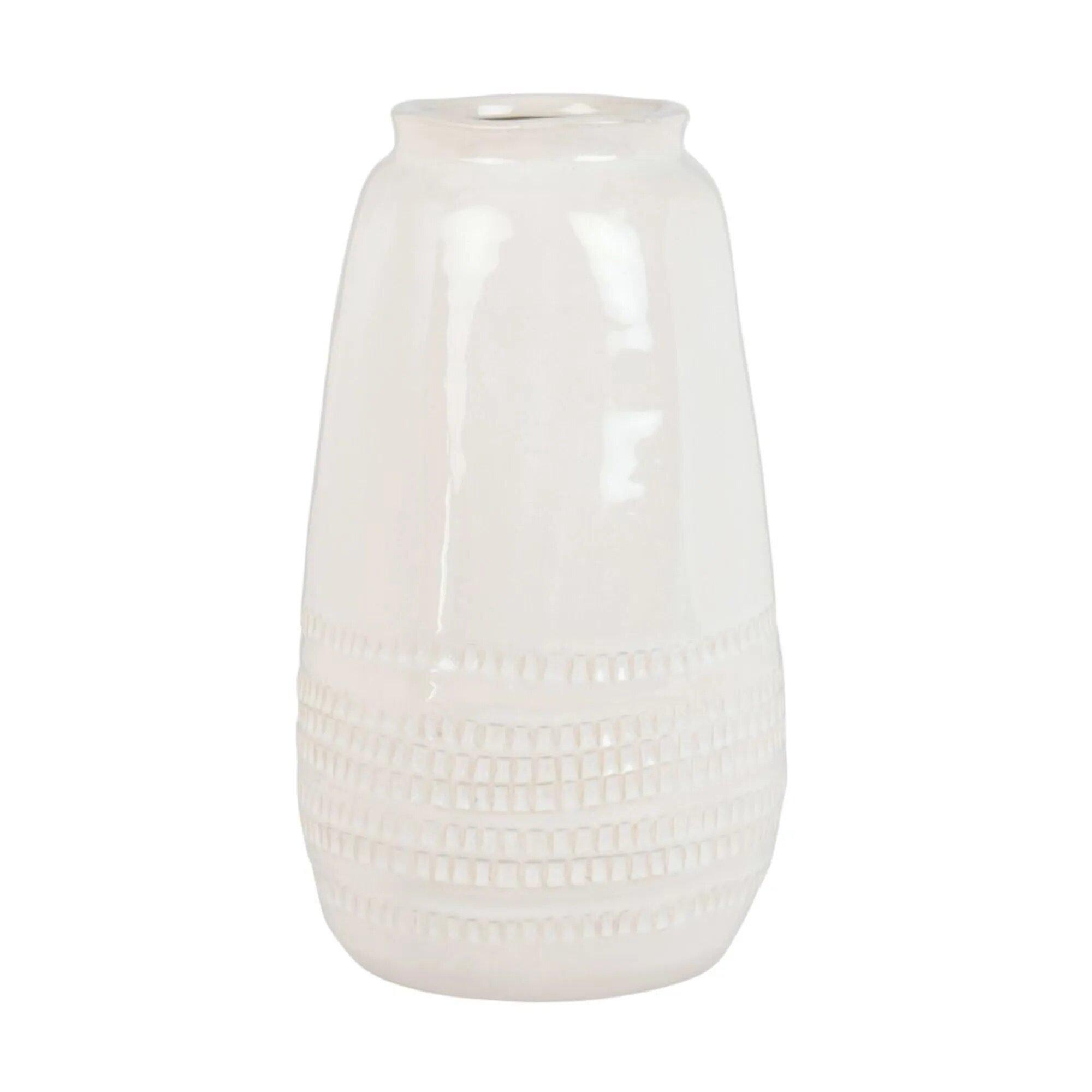 vase en grès blanc déco Maisons du Monde