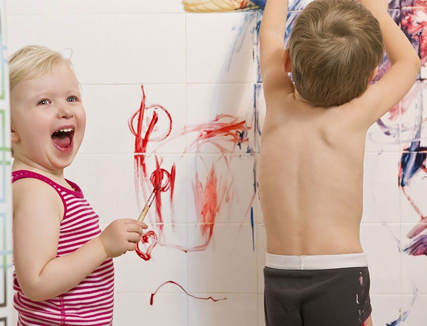 peinture bain enfants