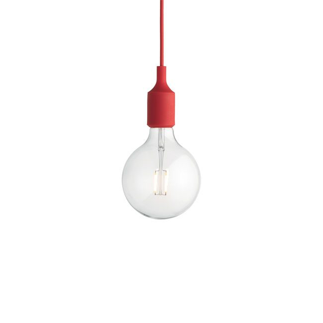 lampe suspendue rouge