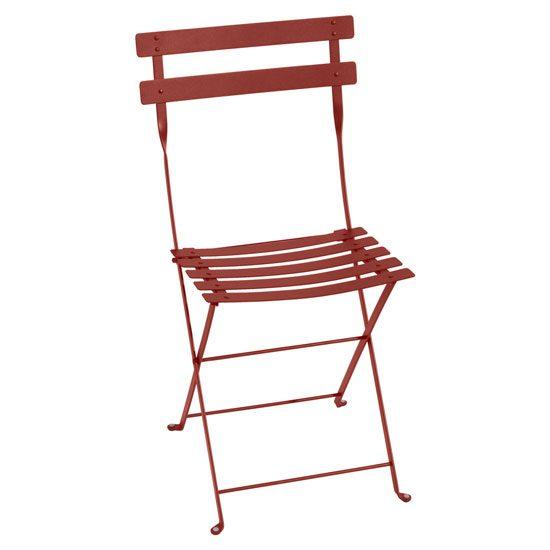chaise de bistro rouge