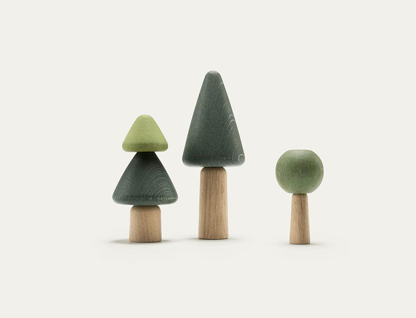 jouet en bois arbre uuio