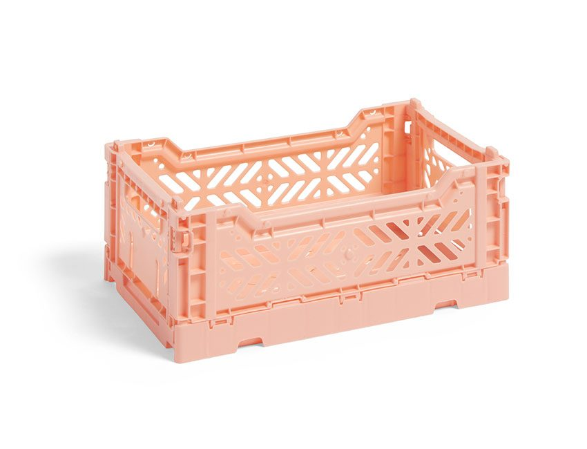 caissette rangement rose hay
