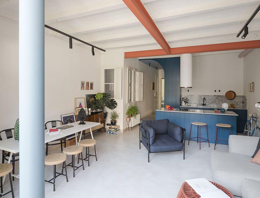 espace de vie cuisine ouverte appartement