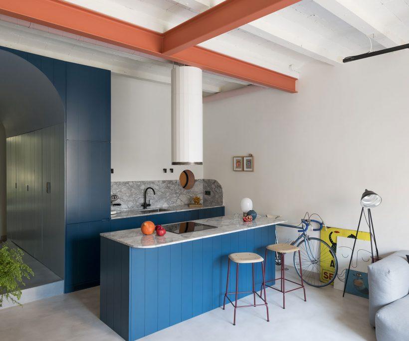 Rénovation: un appartement coloré à Barcelone