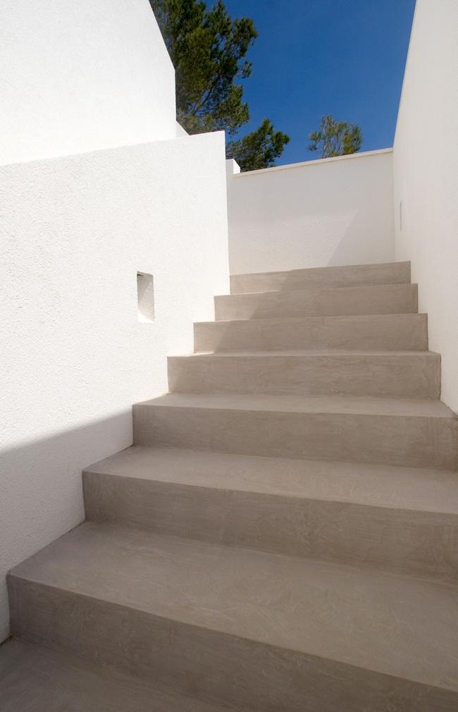 revêtement mortex escalier