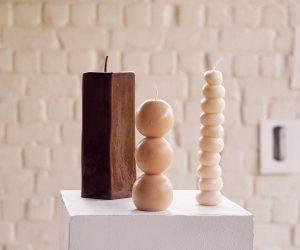 Les bougies sculpturales de la créatrice Anne Vincent