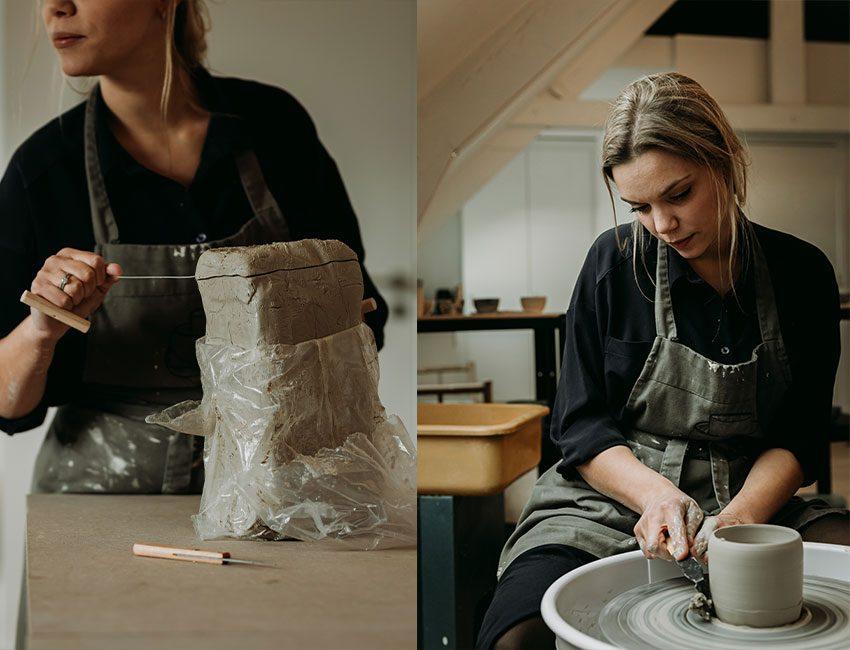 Sophie Verjans ceramiste travail